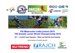 Propozice FIS Junior WC 2015