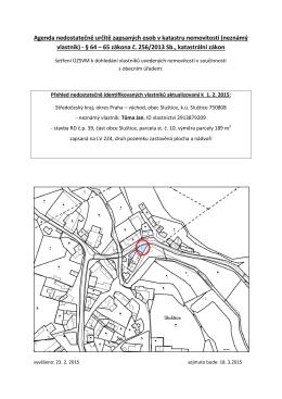 (neznámý vlastník) - § 64 – 65 zákona č. 256/2013