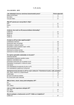 Výsledky dotazníkového šetření za obě třídy dohromady