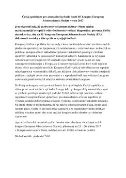 Více ZDE - Česká společnost pro aterosklerózu
