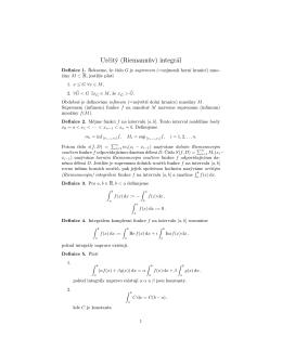 Určitý (Riemannův) integrál