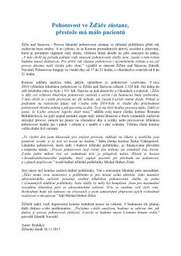 Celý článek - POLIKLINIKA Žďár nad Sázavou