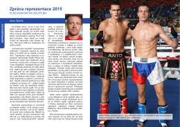 Zpráva reprezentace 2015
