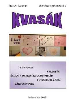 leden-únor 2015 - Základní škola Vyškov, Nádražní 5