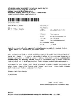ČJ: UZSVM/S/29572/2015-HMSO