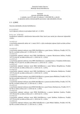 Usnesení starosty 1/2015