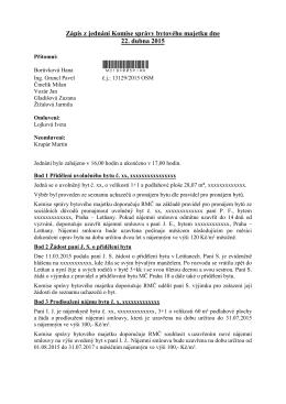Zápis z jednání bytové komise dne 4