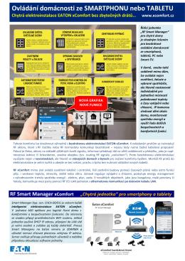 Ovládání domácnosti ze SMARTPHONU nebo TABLETU