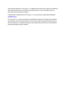 Autorská práva online FTV