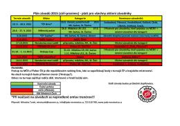 Plán závodů 2015 (září-prosinec) - platí pro