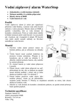 Návod k použití vodního alarmu WaterStop
