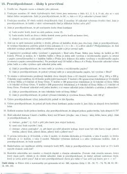 15. Pravděpodobnost - úlohy k procvičení