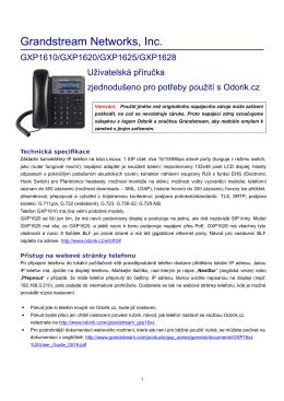 Uživatelská příručka v češtině pro použití na Odorik.cz