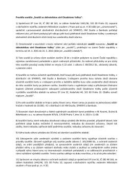 """Pravidla soutěže """"Soutěž se sběratelskou sérií"""
