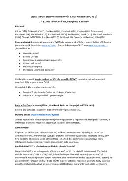 Zápis ze setkání k SPU 17. 3. 2015