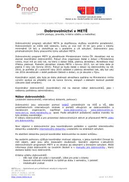 Dobrovolnický program_metodika
