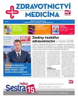 Změny českého zdravotnictví v roce 2016