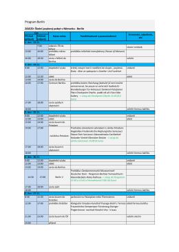 Program Berlín 23.11.