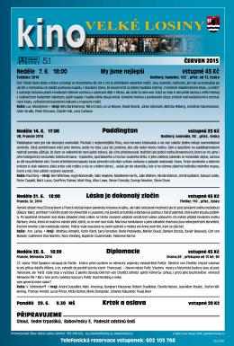 Program Kina Velké Losiny 06/2015