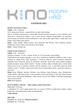 LISTOPAD 2015 PROGRAM celý