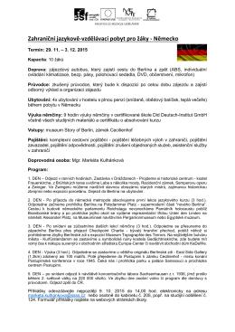 Zahraniční jazykově-vzdělávací pobyt pro žáky