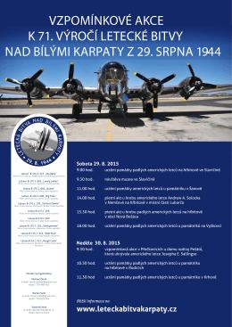 vzpomínkové akce k 71. výročí letecké bitvy nad bílými karpaty z 29