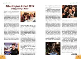 Táborský pivní Arcifest 2015