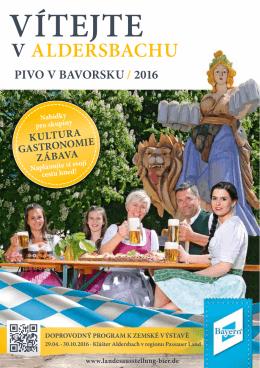 vítejte v aldersbachu pivo v bavorsku / 2016