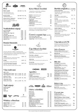 Nápojový lístek - RestauraceLetna.cz