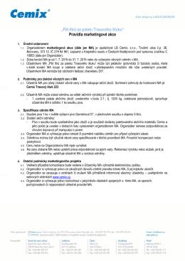 Pravidla akce - LB Cemix, sro
