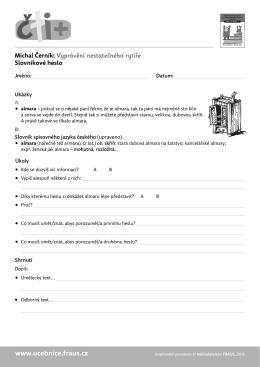 Vyprávění nestatečného rytíře - slovníkové heslo