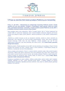 V Praze se otevřela třetí česká prodejna Platformy - Saint