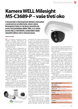 Kamera WELL Milesight MS ‑C3689 ‑P – vaše třetí oko