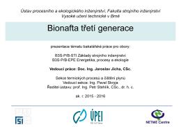 Bionafta třetí generace