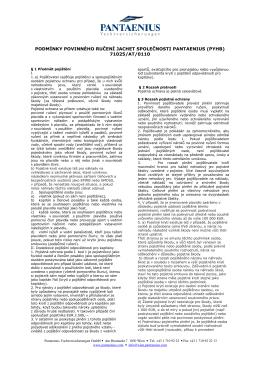 Povinné ručení - pojistné podmínky