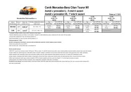 Ceník Mercedes-Benz Citan Tourer M1 kombi v provedení L: 5 míst