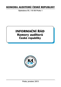 informaČní řád Komory auditorů - Komora auditorů České republiky
