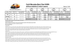 Ceník Mercedes-Benz Citan KAWA