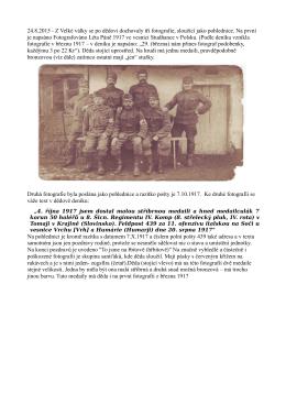 24.8.2015 - Z Velké války se po dědovi dochovaly tři fotografie