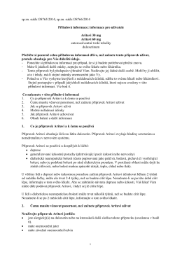 informace pro uživatele Aritavi 30 mg Aritavi 60 mg en