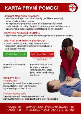 karta první pomoci (dokument v )