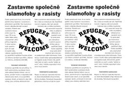 Zastavme společně islamofoby a rasisty Zastavme společně
