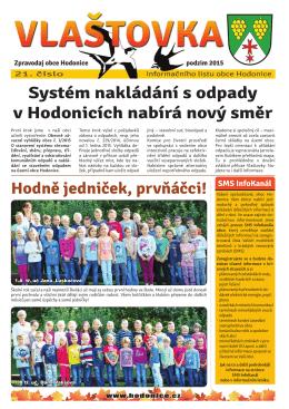 Vlaštovka - Obec Hodonice