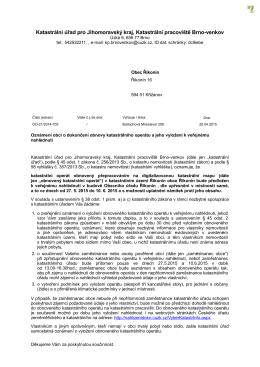 Katastrální úřad pro Jihomoravský kraj, Katastrální