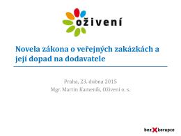 Prevence korupce ve veřejných zakázkách (obecná část)