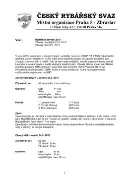 PDF zde - ČRS MO Zbraslav