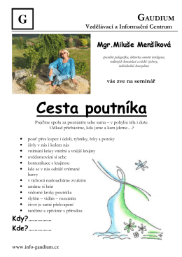 Cesta poutníka - info