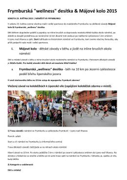 """Frymburská """"wellness"""" desítka & Májové kolo 2015"""
