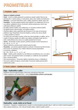 Bagr – hydraulika a páka Hydraulika