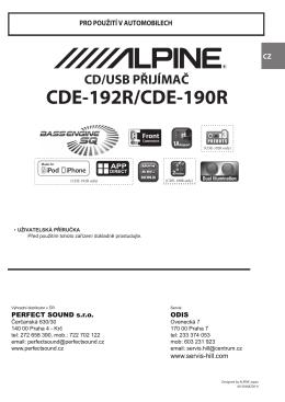 CDE-192R/CDE-190R - Web